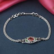 Pure silver Rakhi - Design XXIV
