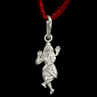 Dancing Shiva Locket in Pure Silver