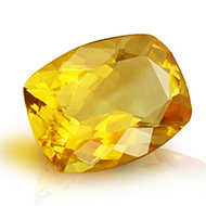 Yellow Citrine - 3 - 4 Carats - Cushion
