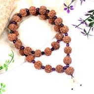 7 Mukhi Mahalakshmi mala with Amethyst beads