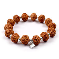7 mukhi Mahalaxmi bracelet from Java with silver balls
