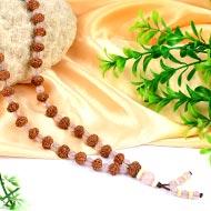 7 mukhi Mahalaxmi Mala from Java with Rose Quartz beads