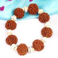 7 Mukhi Nepal Rudraksha beads bracelet - Design II