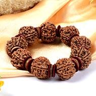 7 Mukhi Nepal Rudraksha beads bracelet - Design III