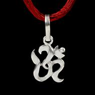 OM Locket in Pure Silver - Design IX