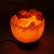 Himalayan Rock Salt Bowl Lamp