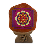 Shree Maha Mrithyunjay Yantra on Red Jasper