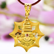 Tirupati Balaji Locket in Pure Gold - 2.98 gms