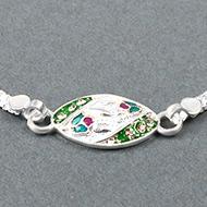 Pure silver Rakhi - Design XXIII