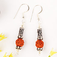 Earrings of Rudraksha Beads - Design VI