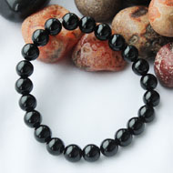 Black Agate Bracelet - 8mm