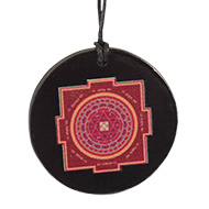 Kuber Yantra locket on Rosewood