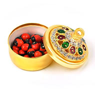 Red Chirmi beads box