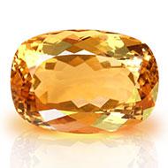 Yellow Citrine - 26.85 carats - Cushion