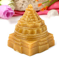 Yellow Jade Shree Yantra - 185 gms