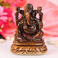 Tiger Eye Ganesha - 511 gm