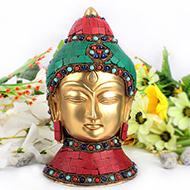 Buddha Face with Stone Work - I