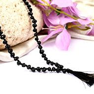 Black Chirmi beads mala - 108+1 beads
