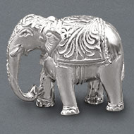 Elephant Idol in pure silver
