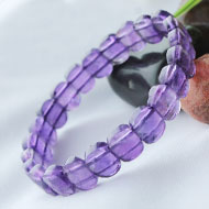 Amethyst Bracelet - Faceted Beads - II