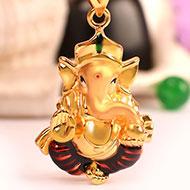 Ganesh Pendant in Gold - 3.09 gms