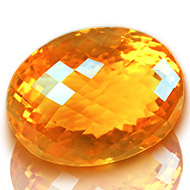 Yellow Citrine - 21.05 carats - Oval