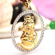 Ganesh Pendant in Gold - 3.92 gms