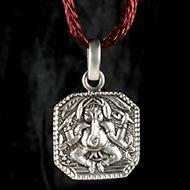 Ganesh Locket in Pure Silver - Design CI