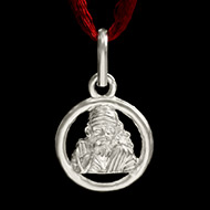 Saibaba Locket in Pure Silver - Design VII