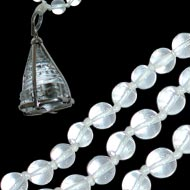 Crystal ShreeYantra locket in  Sphatik Mala