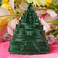 Green Jade shree Yantra - 281 gms