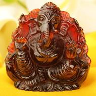 Gomedh Ganesha - 424 carat