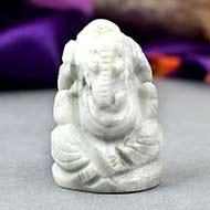 Howlite Ganesha - 17 gms - I