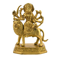 Maa Durga in heavy brass - Design II
