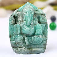 Ganesha in Emerald - 147 carats - Right Trunk