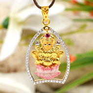 Lakshmi Locket in Pure Gold - 4.7 gms