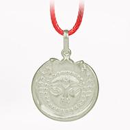 Surya Locket in Pure Silver - Design IV