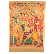 Shri Chamunda Mata Photo in Golden Sheet - Large
