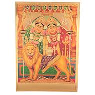 Shri Chamunda Mata Photo in Golden Sheet - Large