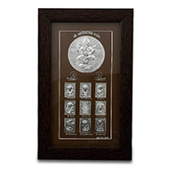 Ashta Vinayak in Silver with frame