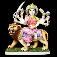 Divine Durga makrana marble idol
