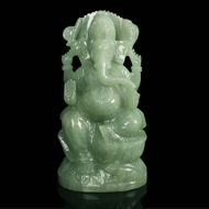 Ganesha in Light Green Jade - 1120 gms