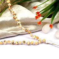 White Chirmi beads mala - 108+1 beads