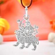 Durga Locket in Pure Silver - Design IX