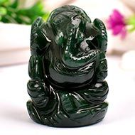 Ganesha in Columbian Green Jade  - 79 gms