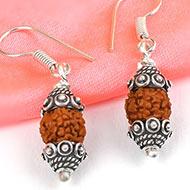 Rudraksha earring - Design VI