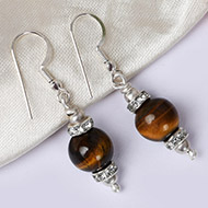 Tiger Eye Earrings - I