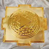 Siddh Meru Kuber Yantra - Gold Polish