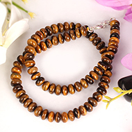 Tiger Eye Necklace - Elliptical Beads