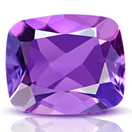 Amethyst - 5 to 6 carats - Cushion